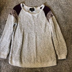 Absolutely from stitch fix sweater. Medium